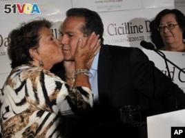 Rhode Island Democratic Congressman David Cicilline and his mother, Sabra.