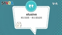 学个词--elusive