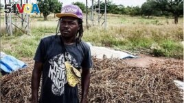 Burkina Faso rapper/farmer Art Melody is seen in an undated photo from his Instagram page. The caption on it reads: Farmer by day, rapper by night.