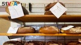 Bread that was baked with beer is displayed at the Coelven bakery in Duesseldorf, Germany. (AP Photo/Daniel Niemann)