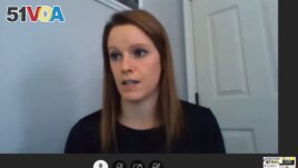 Alison Reeves, a Spanish teacher in Fairfax, Virginia, has been teaching from home during the 2020-2021 school year. (Screenshot courtesy Alison Reeves)