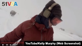 Kelly Murphy is a snowboarder from Australia. She says she was chased by a bear while snowboarding in Japan.
