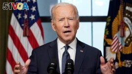 US President Joe Biden speaks from the Treaty Room in the White House on April 14, 2021 in Washington, DC, about the withdrawal of the remainder of US troops from Afghanistan.