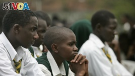 Students at Jamhuri High School in Nairobi, Kenya, are seen listening to a speech, Feb. 11, 2008. Newly-released results show that just 15 percent of the more than half-million students who in 2016 applied to enter university passed the entrance exam.