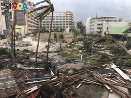 Destruction lies in the wake of Hurricane Irma in St. Martin, Sept. 6, 2017.