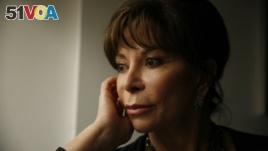 In this May 3, 2010 photo, Chilean writer Isabel Allende is interviewed at the offices of The Associated Press in New York. (AP Photo/Peter Morgan)