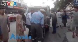 Injured people arrive at a hospital in Kabul, Afghanistan August 26, 2021. (ASVAKA NEWS/via REUTERS)
