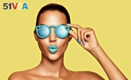 Snap Inc. has started selling its Spectacles sunglasses online in the United States. The glasses can record short video clips that can be shared with Snapchat users. (Snap Inc.)