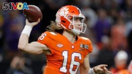 Clemson quarterback Trevor Lawrence was one of the most well-known players, but he could not make money until going to the NFL. (AP Photo/Gerald Herbert)