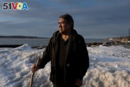 Patrick Pletnikoff, mayor of St. George Village, poses for a press photo in Anchorage, Alaska, U.S., April 2, 2021. Picture taken April 2, 2021. REUTERS/Nathan Howard