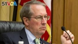 FILE - House Judiciary Committee Chairman Rep. Bob Goodlatte, R-Va., listens to testimony on Capitol Hill in Washington.