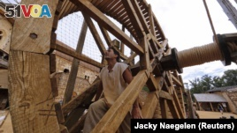 The Guedelon castle is a typical French medieval chateau-fort being built using the techniques, materials and rules of the 13th Century.