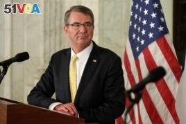 U.S. Secretary of Defense Ash Carter, Nov. 28, 2016, in Washington. D.C. (Credit:Reuters)
