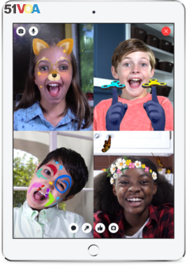 Facebook's new Messenger Kids service allows children to add colorful pictures, drawings and sounds to messages. (Facebook)