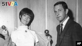 Barbara Feldon and Don Adams, co-stars of the spy spoof show