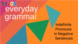 Indefinite Pronouns in Negative Sentences
