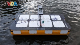 This photograph shows the latest version of MIT's autonomous boat - Roboat II, which is two meters long and is capable of carrying passengers.<I>&#</i>160;(Photo: MIT/CSAIL researchers)