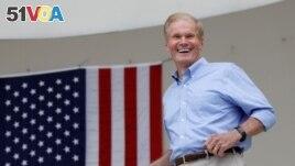 FILE PHOTO: Senator Bill Nelson (D-FL) smiles in West Palm Beach, Florida