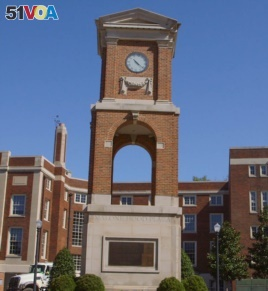 The Autherine Lucy Clock Tower commemorates the university's first African American student.