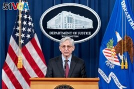 Attorney General Merrick Garland speaks about a jury's verdict in the case against former Minneapolis Police Officer Derek Chauvin in the death of George Floyd, at the Department of Justice, in Washington, D.C., U.S. April 21, 2021. (Andrew Harnik/Pool via Reuters)