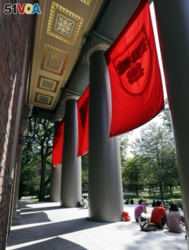 People sit on the campus of Harvard University in Cambridge, Mass. Thursday, Aug. 30, 2012. (AP Photo/Elise Amendola)