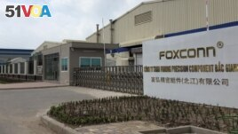 Foxconn production center in Bac Giang.
