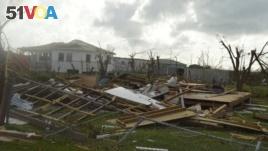 Damage is left after Hurricane Irma hit Barbuda, Sept. 7, 2017.