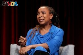 In this Feb. 2, 2019, file photo, Kimberle Crenshaw participates in the 'Reconstruction: America After Civil War' panel during the PBS presentation at the Television Critics Association Winter Press Tour at The Langham Huntington in Pasadena, Calif.