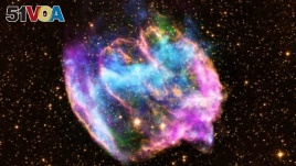 X-Ray images of supernova remnant called W49B.