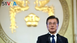 South Korean President Moon Jae-in holds a press conference marking his first 100 days in office. Moon spoke about tension on the Korean Peninsula