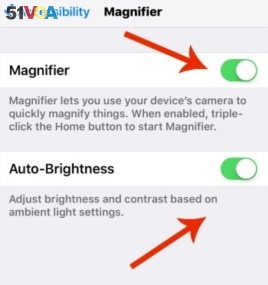 iPhone Magnifier Settings