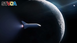 SpaceX's BFR launch vehicle is seen in this handout image provided Sept. 14, 2018.