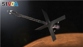 This NASA illustration depicts a Mars transit habitat and nuclear propulsion system that could one day carry astronauts to Mars. (Image Credit: NASA)