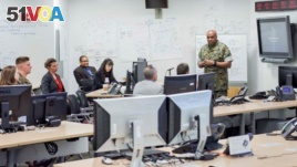 DIA Director Lt. Gen. Vincent Stewart discusses artificial intelligence and machine learning at the DIA Industry Day presentations Aug 2 at DIA headquarters in Washington, DC.(Courtesy DIA)