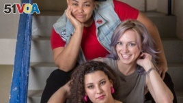 The hosts of TAGG Nation Podcast: Chelsea Shorte, Ashley Lindley, and Jade Salazar. TAGG Magazine sponsored the Women in Comedy event in Alexandria, Virginia, where Shorte and Lindley spoke to aspiring female comics about developing their careers.