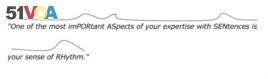 Sentence intonation example from Matha Kolln's Rhetorical Grammar