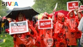 Demonstrators rally for fair trade at the Capitol in Washington D.C.