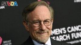 FILE - Filmmaker Steven Spielberg poses at the 2019