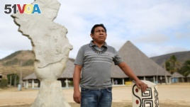 Chief Aldenir Lima, the leader of the 70 communities on the Raposa Serra do Sol reservation. (REUTERS/Bruno Kelly)