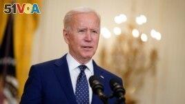 In this April 15, 2021, file photo, President Joe Biden speaks in the East Room of the White House in Washington. (AP Photo/Andrew Harnik, File)