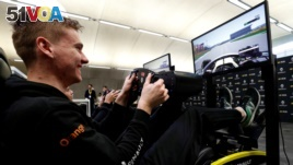 FILE PHOTO: Esports - Renault F1 Esports Facility Tour - Whiteways Technical Centre, Enstone, Britain - November 25, 2019. Jarno Opmeer, F1 Esports driver for Renault Sport Team smiles.