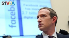 In this file photo, Facebook Chairman and CEO Mark Zuckerberg testifies at a House Financial Services Committee hearing in Washington. (Reuters)