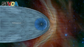 Data from the NASA spacecraft Voyager 2 has helped further characterize the structure of the heliosphere — the wind sock-shaped region created by the sun's wind as it extends to the boundary of the solar system, as depicted in this image released by NASA.