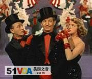 A scene from the movie 'White Christmas,' starring Bing Crosby, Danny Kaye and Rosemary Clooney