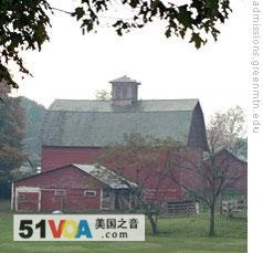 The campus farm at Green Mountain College in Poultney, Vermont