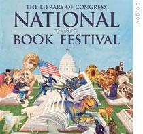 A detail of illustrator Charles Santore's poster for the National Book Festival