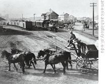 Watsonville, California, freight yards, 1890s
