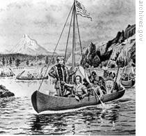 A drawing of Lewis and Clark