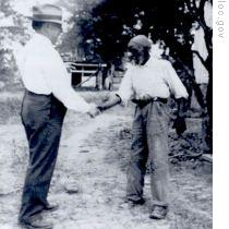 John Lomax with Rich Brown in Alabama in October 1940