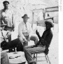 John Lomax with Billy McCrea and friends at McCrea's home in Jasper, Texas